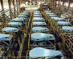 Overview of banks of flotation cells