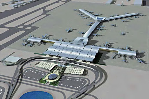 New Doha International Airport from the air