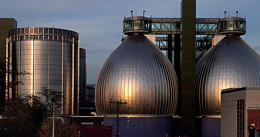 "Newton Creek Type 316 stainless digester ""eggs"""